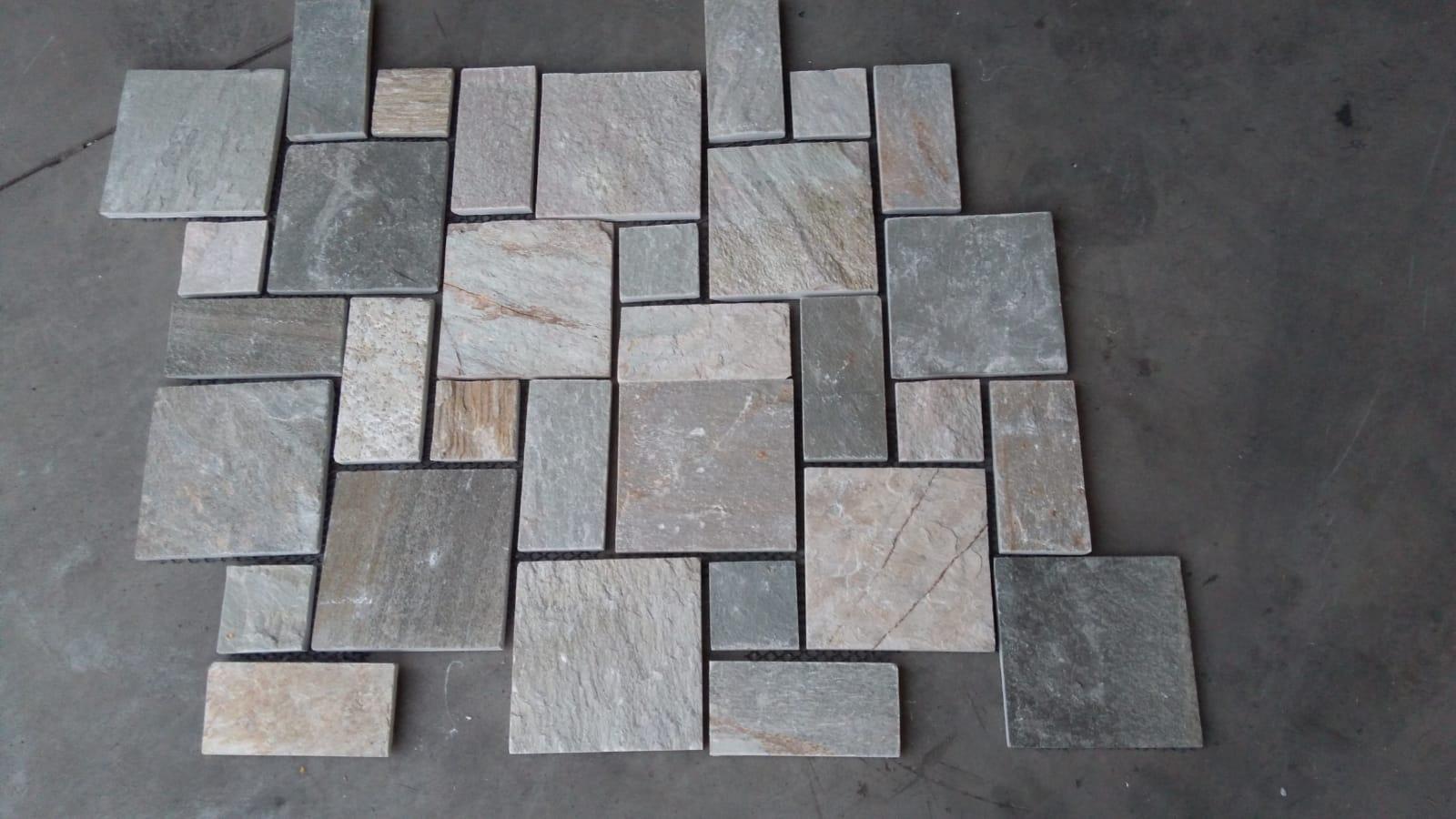 Estremamente Pavimento esterno in pietra naturale FS128 formato La Romana VM26